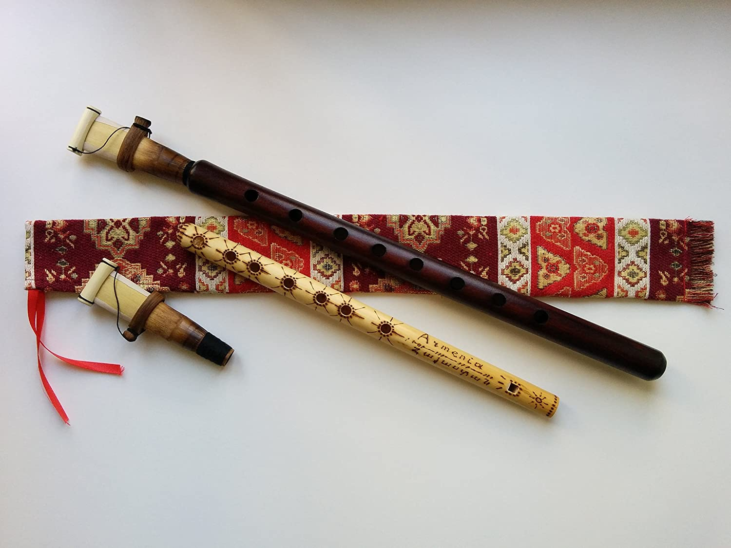 Armenian DUDUK PRO Musical Instrument from Apricot Wood, 2 Reeds, National Case, Playing Instruction, Free Gift - Kamesh Flute Azo