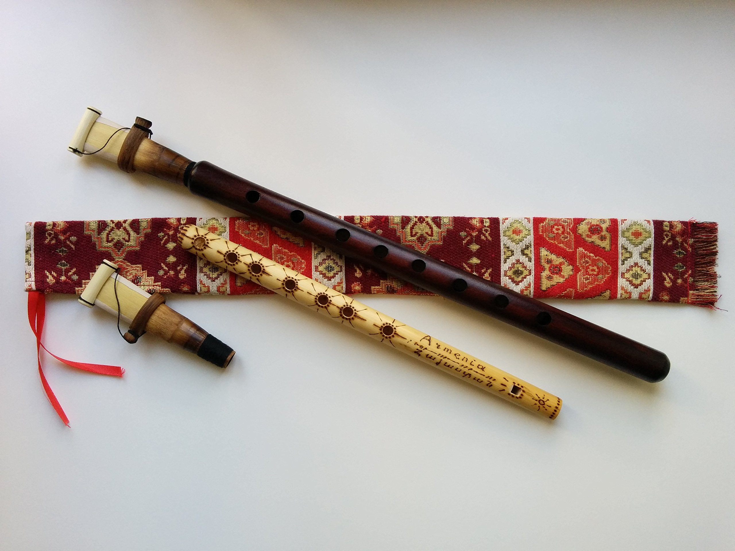 Armenian DUDUK PRO Musical Instrument from Apricot Wood, 2 Reeds, National Case, Playing Instruction, Free Gift - Kamesh Flute