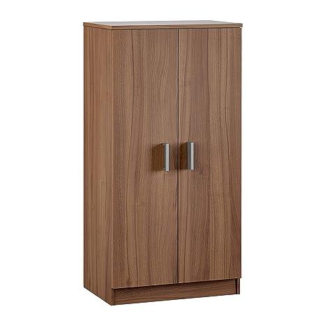 Habitdesign 007813N - Zapatero Armario Basic, Mueble Auxiliar acabado en Nogal, Medidas: 108 cm (alto) x 55 cm (largo) x 36 cm (fondo)