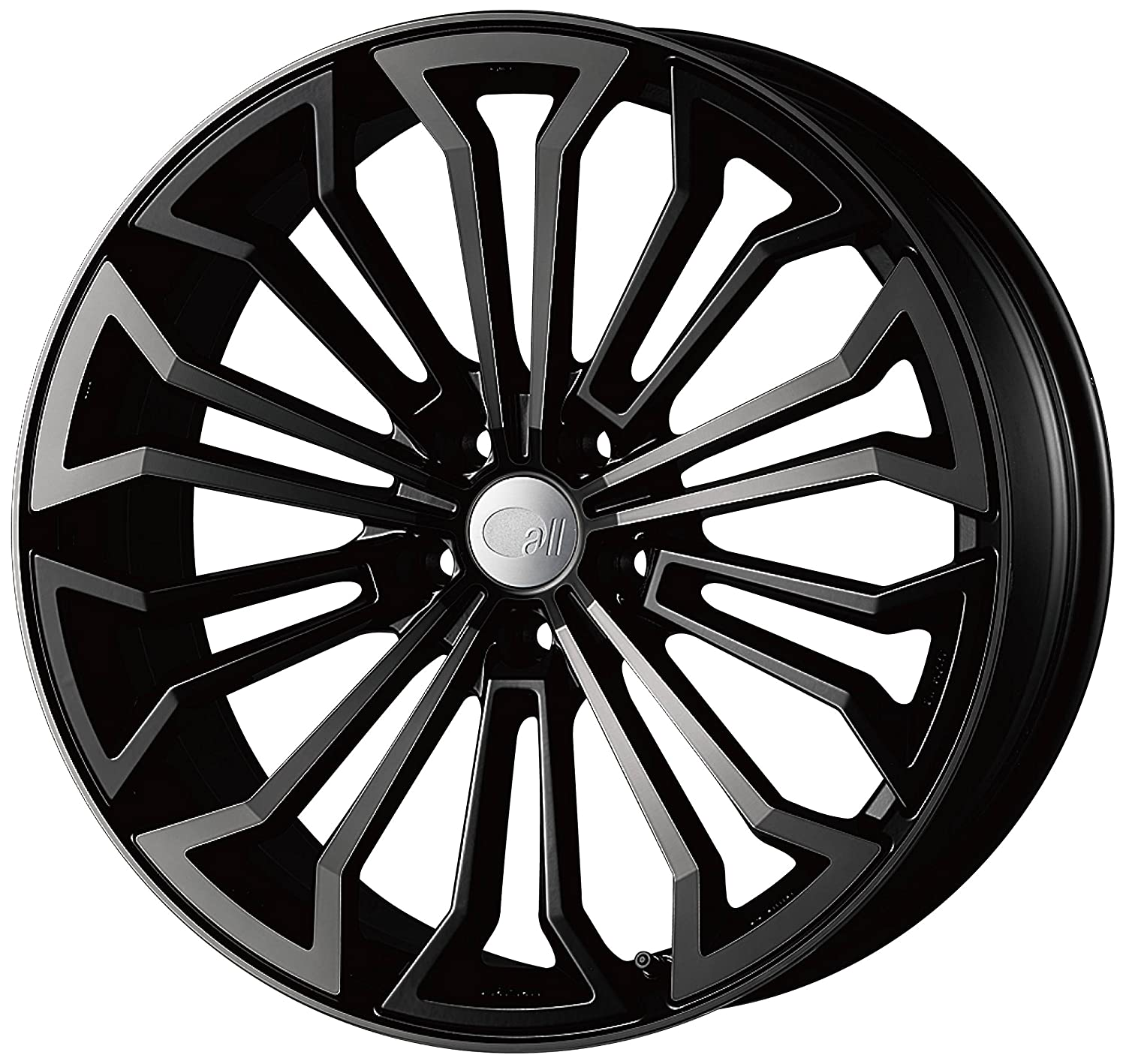 エンケイ アルミホイール all eight 20 x 8.5J +42 5H 107.95 Black Clear AL8-2085-42-5E-B/B B06W54T2TK
