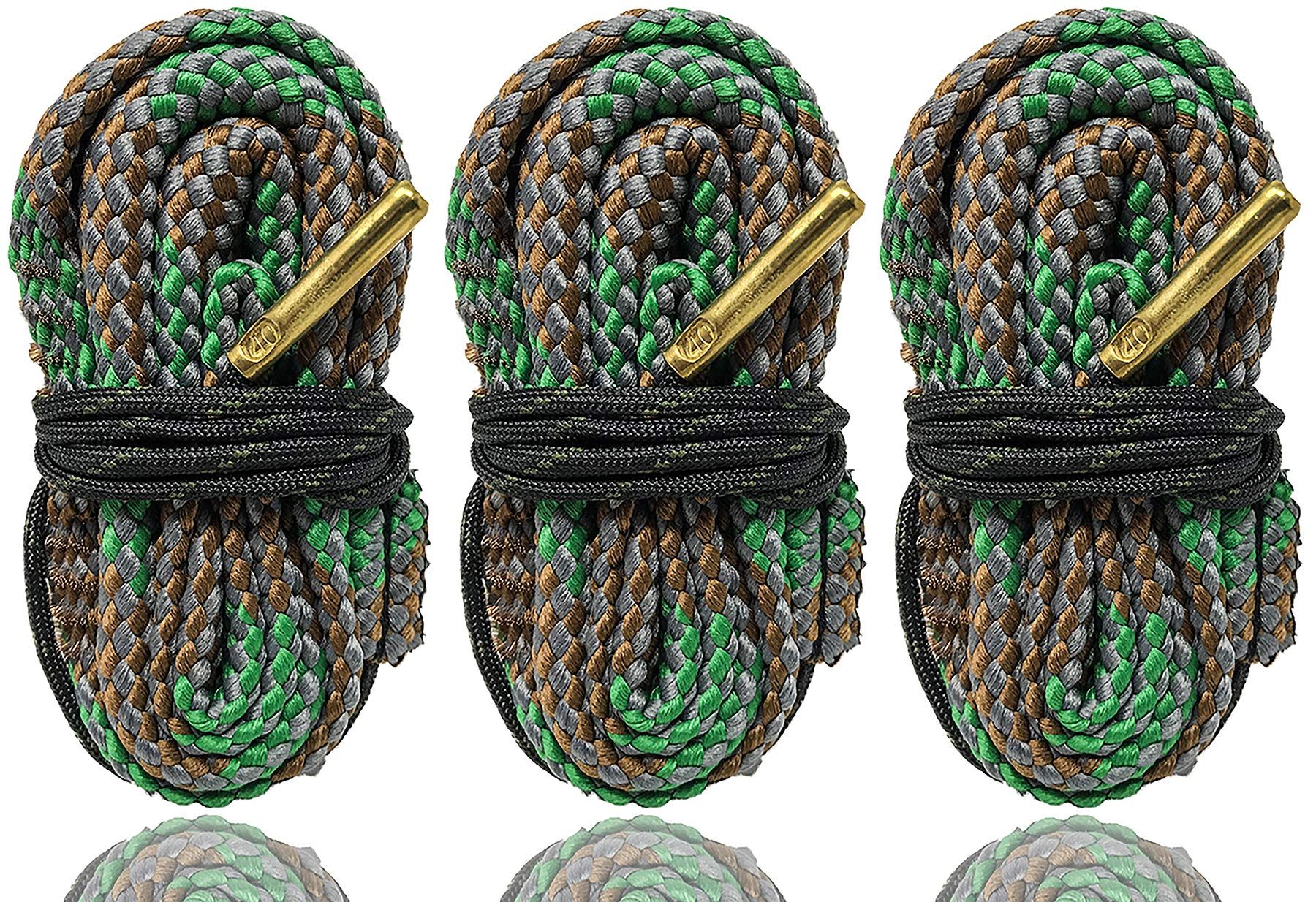 Cobra Bore Snakes 3 Pack 40 Caliber Bore Snakes Easy One Pull Cleans Your 40 Cal Easy - Compatible With Most Pistols Including Glock Smith And Wesson Ruger Kimber Taurus Browning Springfield And More by Big Country Wholesale