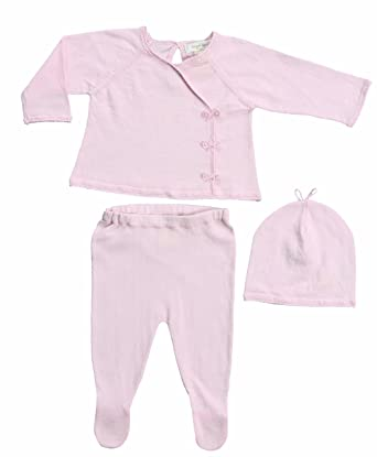fce7f3daa Amazon.com: Angel Dear Neutral Baby Kimono Sweater Gift Outfit Newborn Take  Me Home Set,Pink (Newborn, Baby Pink): Clothing