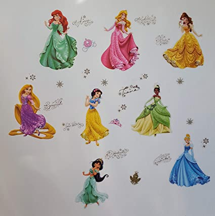 Princesses Stickers Muraux Princesses Disney Chambre Denfants Stickers Mural Enfant Fille Chambre Bebe Wall Sticker Kids Autocollants Princesse