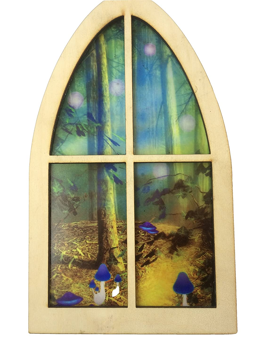 Extra Large Enchanted Fairy Stained Glass Window to a Magical Fairy Land by Secret Fairy Door 1M