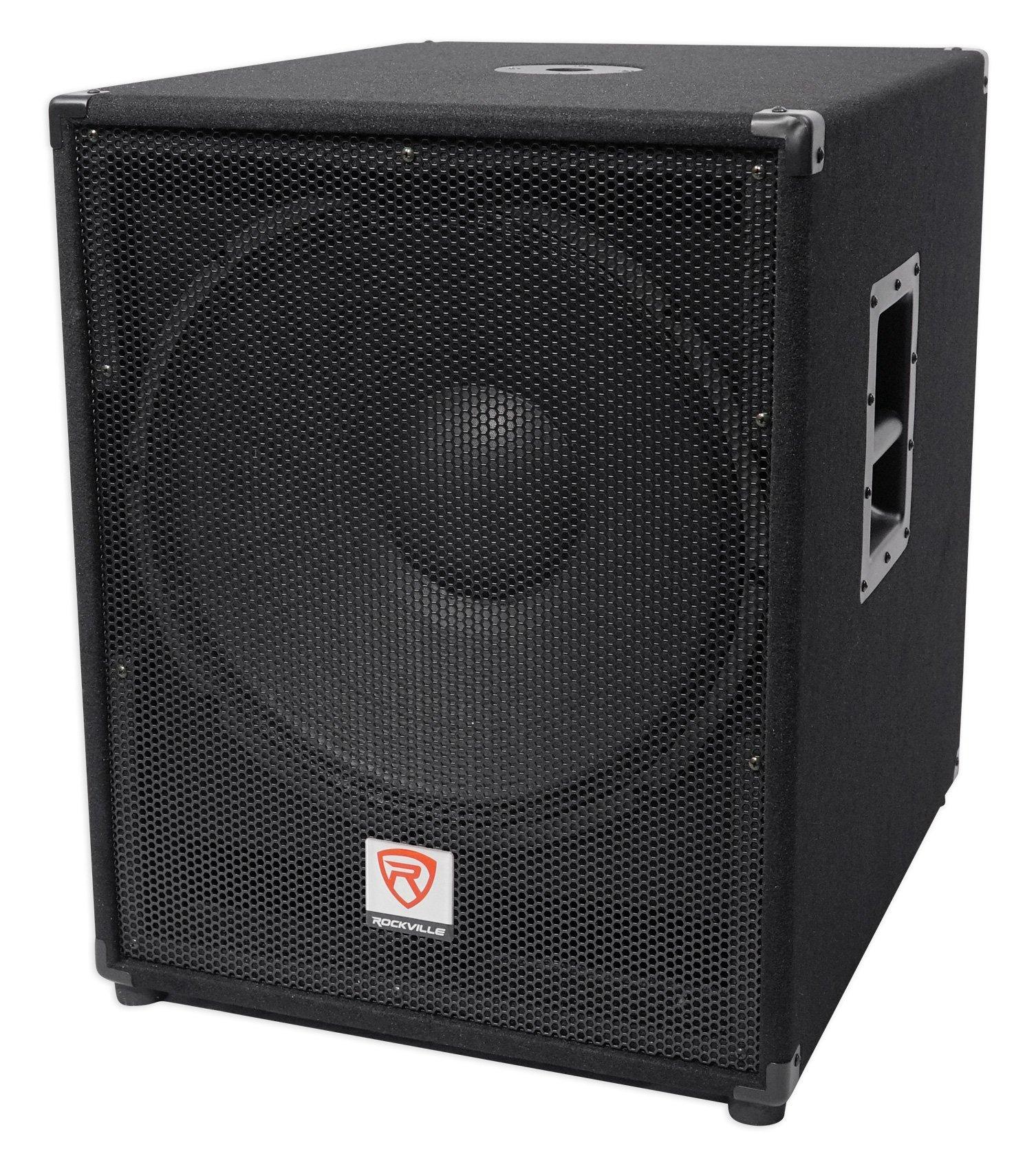 Rockville PBG18 18'' Passive 2000 Watt 8 Ohm Pro Audio Subwoofer Sub/MDF Cabinet