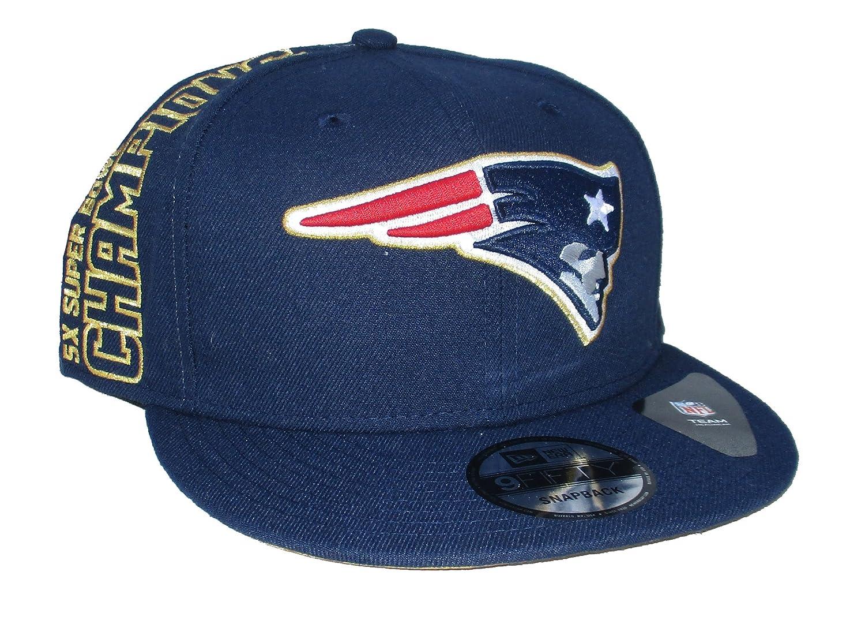 official photos b7de3 1a3f6 Amazon.com   New England Patriots New Era 5X Super Bowl Champions Snapback  Hat Cap - Team Colors   Sports   Outdoors