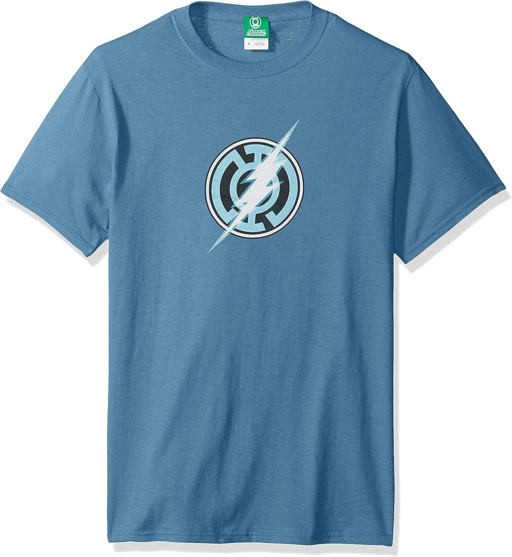 Green Lantern Blue Lantern Flash Symbol DC Comics Licensed Adult T-Shirt