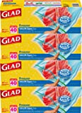 Glad Food Storage Bags, Freezer Zipper Gallon, 40 Count (Pack of 4)