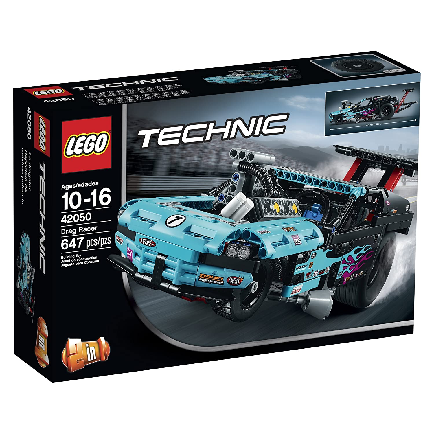 LEGO Technic Drag Racer (42050) Kit Speed Build Video