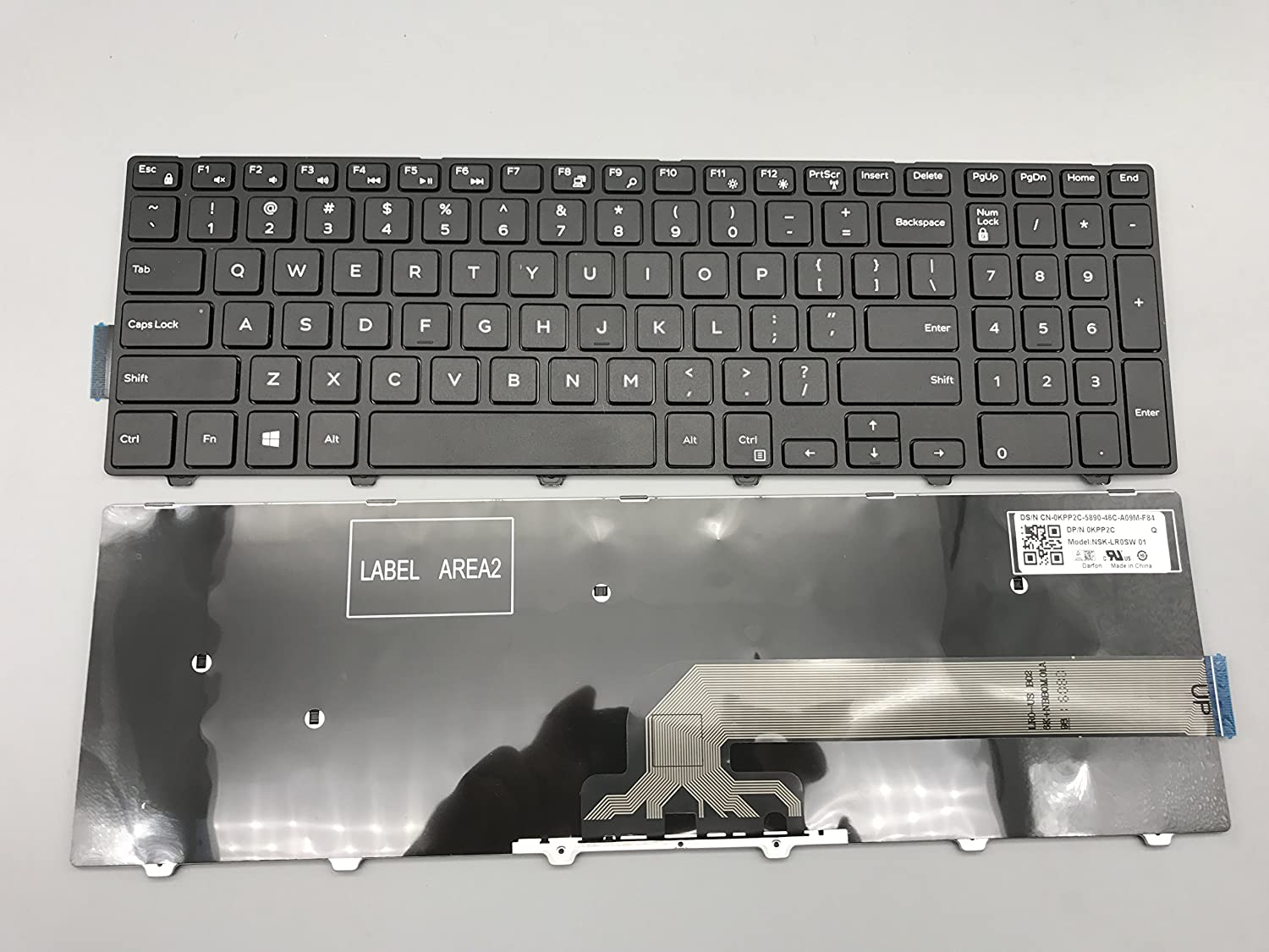Replacement Keyboard for Dell Inspiron 15 5000 15-3000 Series 5542 5543 5545 5547 5548 New Version Laptop Without Backlight