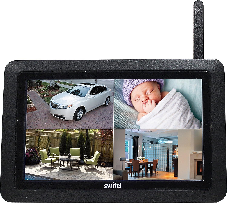 Switel hs2000/digitale HD Radio di monitoraggio Set con ampio touch screen del monitor e Telecamera Esterna Resistente alle intemperie Nero 2/pezzi
