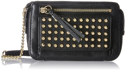 8d752aa231ff Michael Kors 30T7GT1M6L Womens Mitchell Cross-Body Bag Black (Black ...