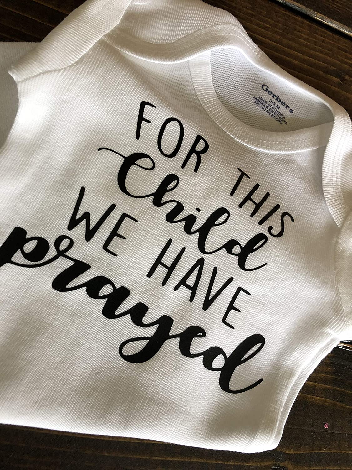 For This Child We Have Prayed Baby Onesie