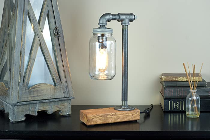 industrial rustic pipe lamp industrial lighting steampunk lamp table lamp edison light