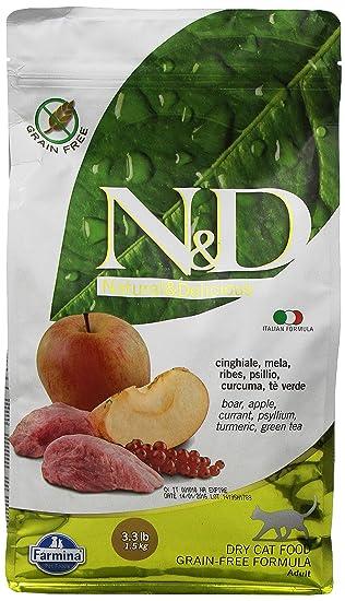 FARMINA – N & D Libre de Granos, con Carne de jabalí y Manzana,