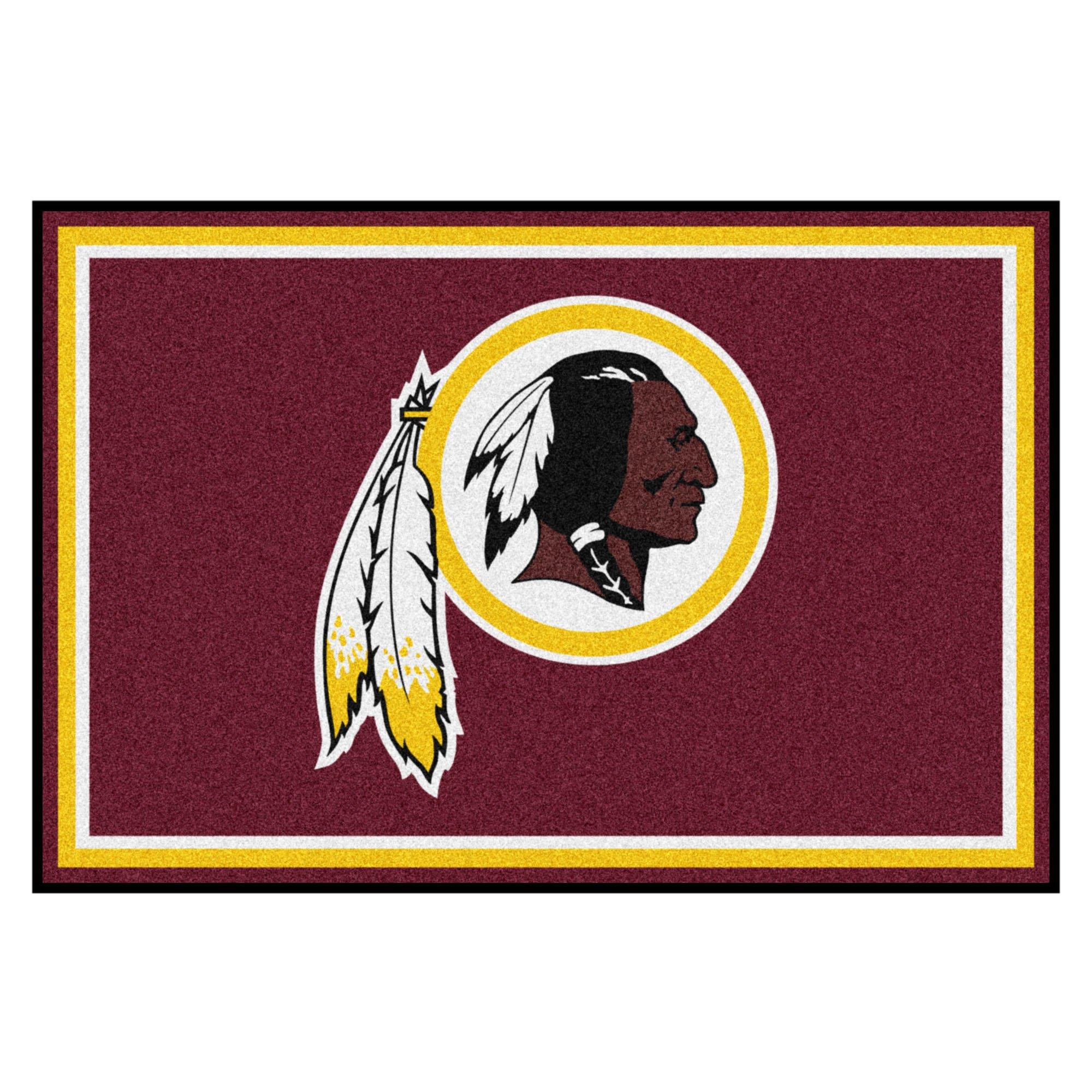 FANMATS NFL Washington Redskins Nylon Face 5X8 Plush Rug by Fanmats