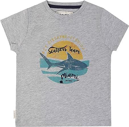 Scalpers Shark tee Kids - Camiseta para niño, Talla 8, Color Gris: Amazon.es: Ropa y accesorios