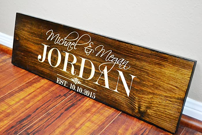 FAST SHIPPING Rustic Anniversary gift for Wife-Husband- Wedding Gift Ideas Sign- Fifth