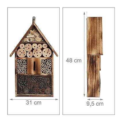 Relaxdays Casa para Insectos Marrón 9.5x31x48 cm 10020721: Amazon.es: Hogar