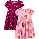Simple Joys by Carter's Baby-Girls 2-Pack Short-Sleeve and Sleeveless Dress Sets