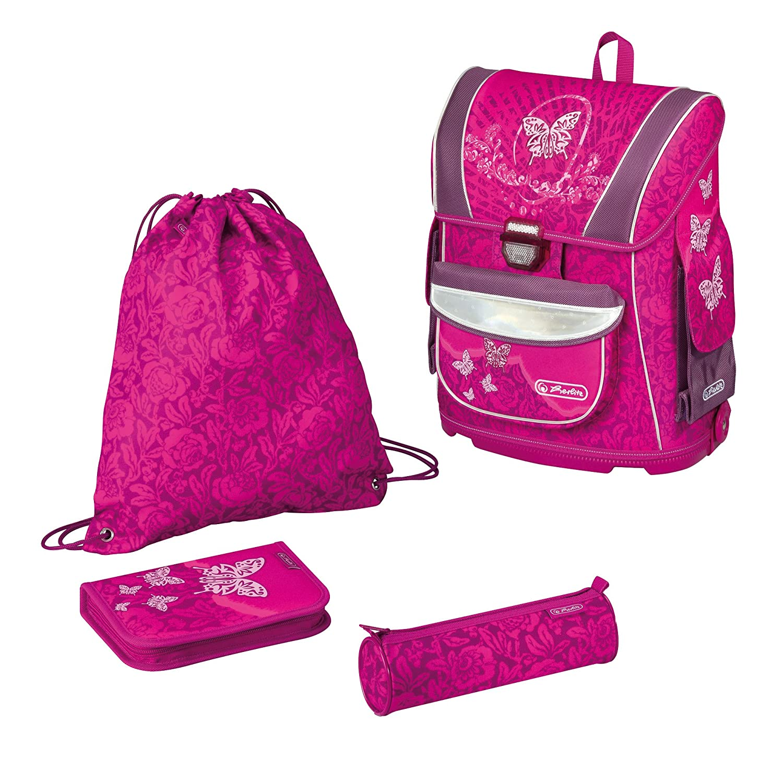 Herlitz School Bag, Midi Plus Rose Butterfly, rosa - rose bonbon ...