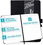 Action Day Meeting Notebook, Design That Makes It Easy for You to Run Effective Meetings & Take Meeting Notes & Turn…
