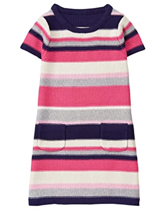 c714cbf6a8 Amazon.com  Gymboree Girls  Little Stripe Shift Sweater Dress  Clothing