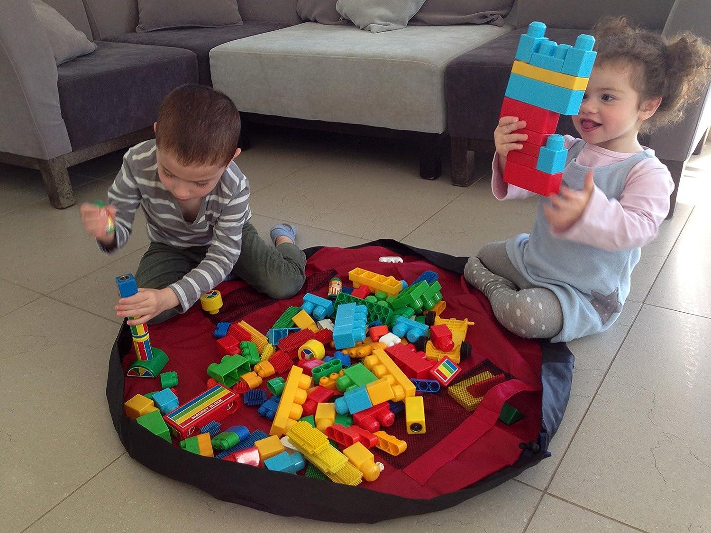 die sich in einen tragbaren Aufbewahrungsbeutel f/ür das Spielzeug verwandeln l/ässt Vielzweck-Matte f/ür Kinderaktivit/äten Ihr Kinderspielmatte und Spielzeug-Aufbewahrungsbeutel von Bow-Tiger/™