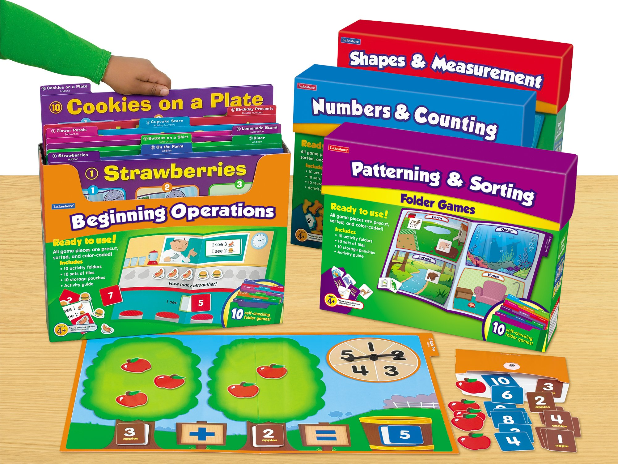 Lakeshore Early Math File Folder Game Libraries - Pre K-K - Complete Set by Lakeshore Learning Materials (Image #1)