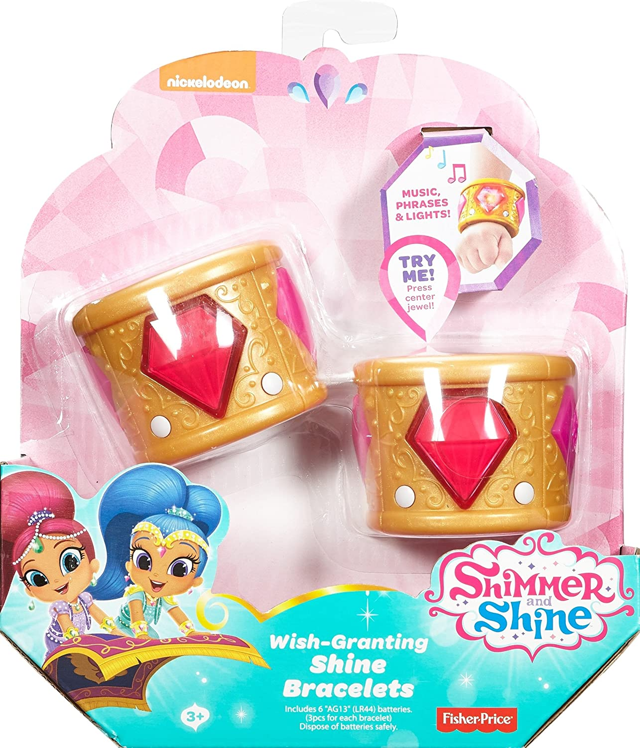 Fisher-Price Shimmer and Shine, Wish-Granting Shine Bracelets by Fisher-Price: Amazon.es: Juguetes y juegos