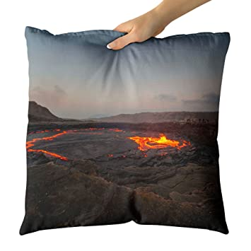 amazon westlakeアート装飾スロー枕 volcano vent 写真ホーム装飾