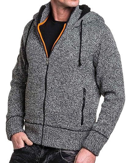 f8048280e5407 BLZ Jeans - Gilet Homme Gris côtelé et fourré à Capuche - Couleur: Gris -  Taille: S: Amazon.fr: Vêtements et accessoires