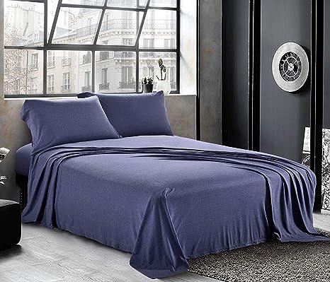 Organic Cotton Extra Deep Pocket Cushy Bed Sheet Purple Striped Select Item