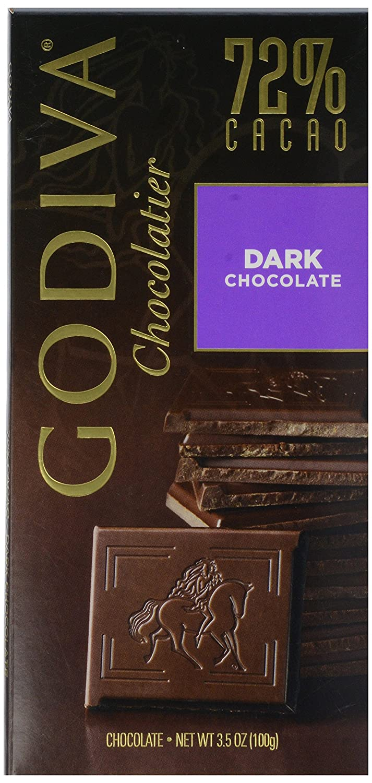 Amazon.com : Godiva Tablet Bar 72% Dark Chocolate, 3.5 oz ...