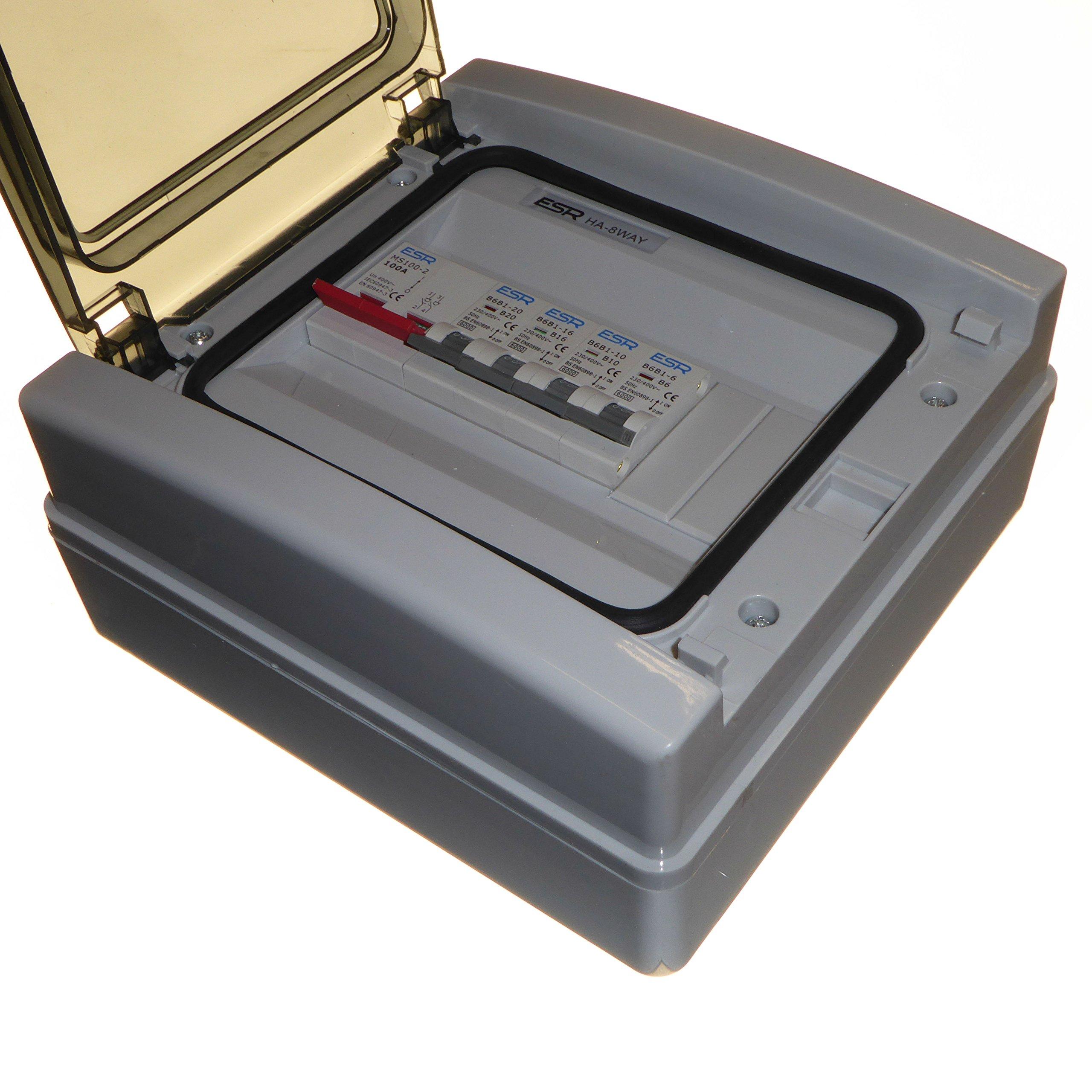 Metal Consumer Unit 100 Amp Isolator 6 /& 32 Amp MCB Circuit Breaker Amendment 3