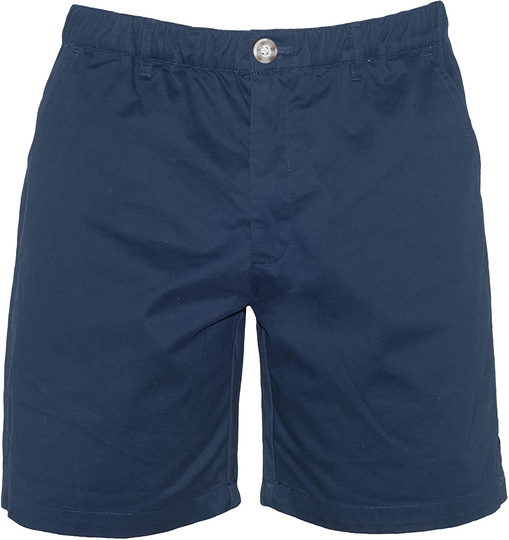 "Meripex Apparel Men's 7"" Inseam Elastic-Waist Casual Short Shorts 4-Way Stretch"