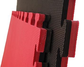 10 x Cannons es Tatami Negro y Rojo Standard Puzzle 1m x 1m ...