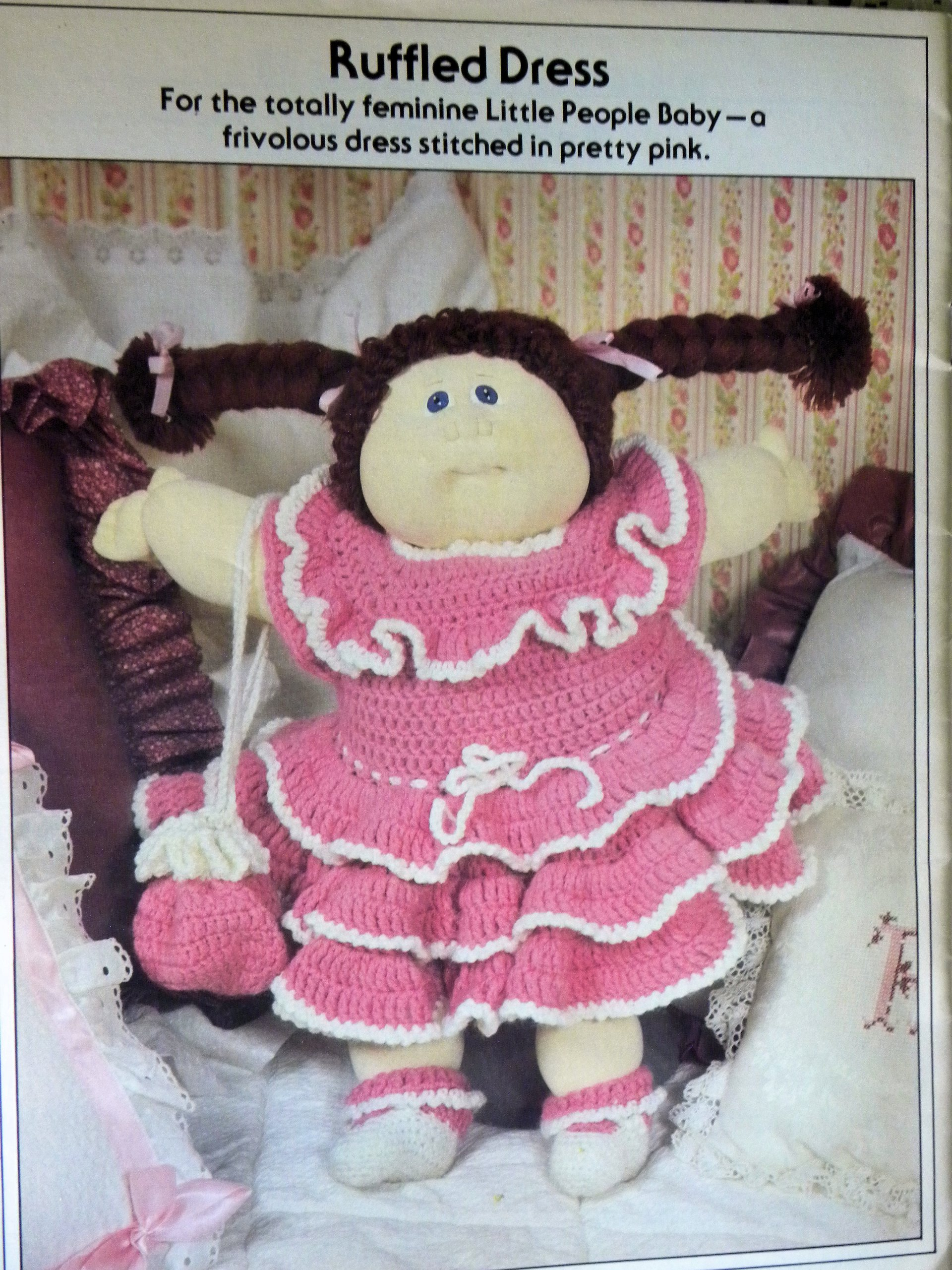 Xavier Roberts Presents Crochet Clothing For Cabbage Patch Kids Paperback – 1982 Shirley Now Plaid Enterprises Inc Norcross GA
