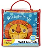 Melissa & Doug Soft Activity Baby Book - Wild Animals