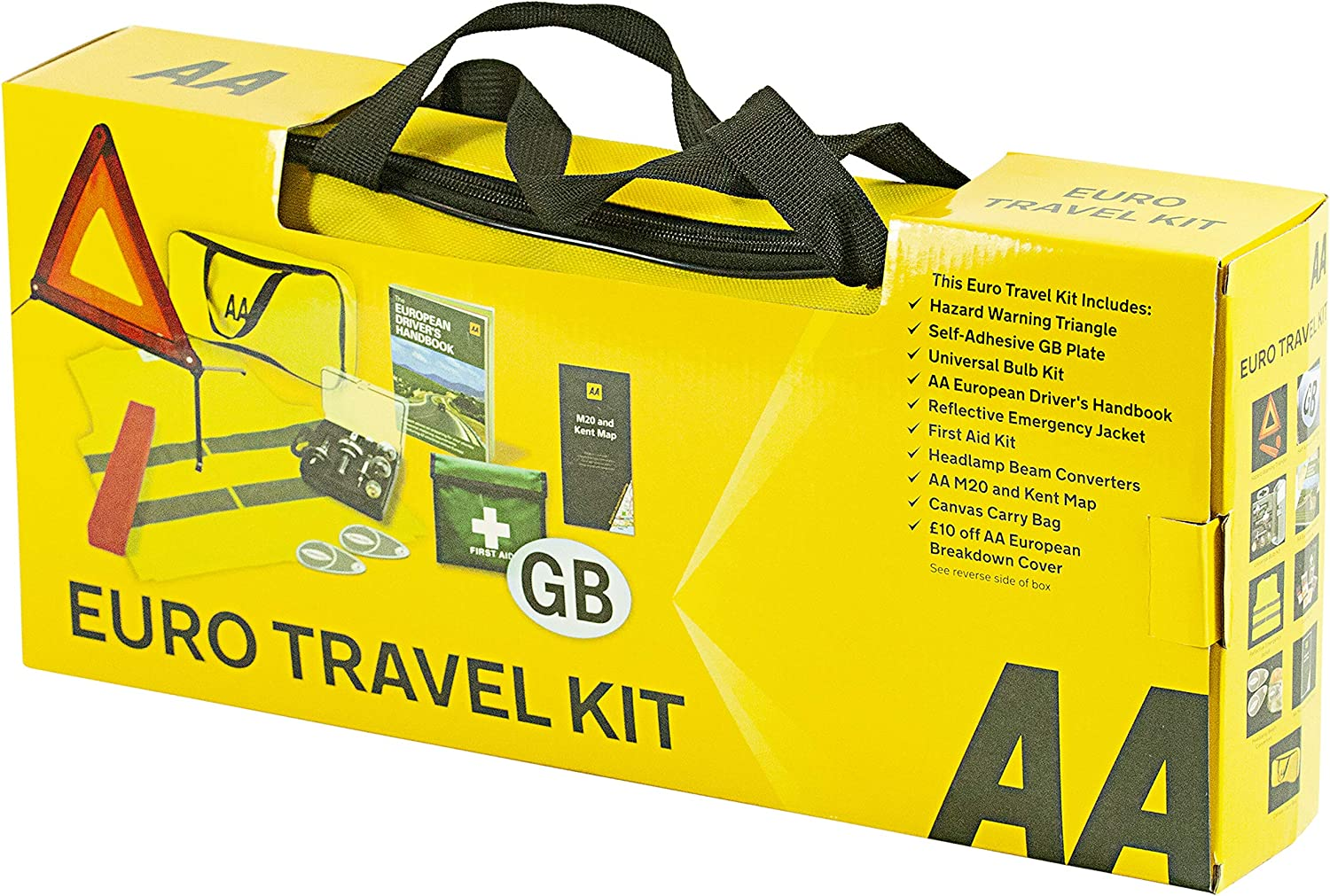 bundle Compact Universal Bulb Kit and High Visibility Vest Family Pack AA France Travel Kit with Breathalysers