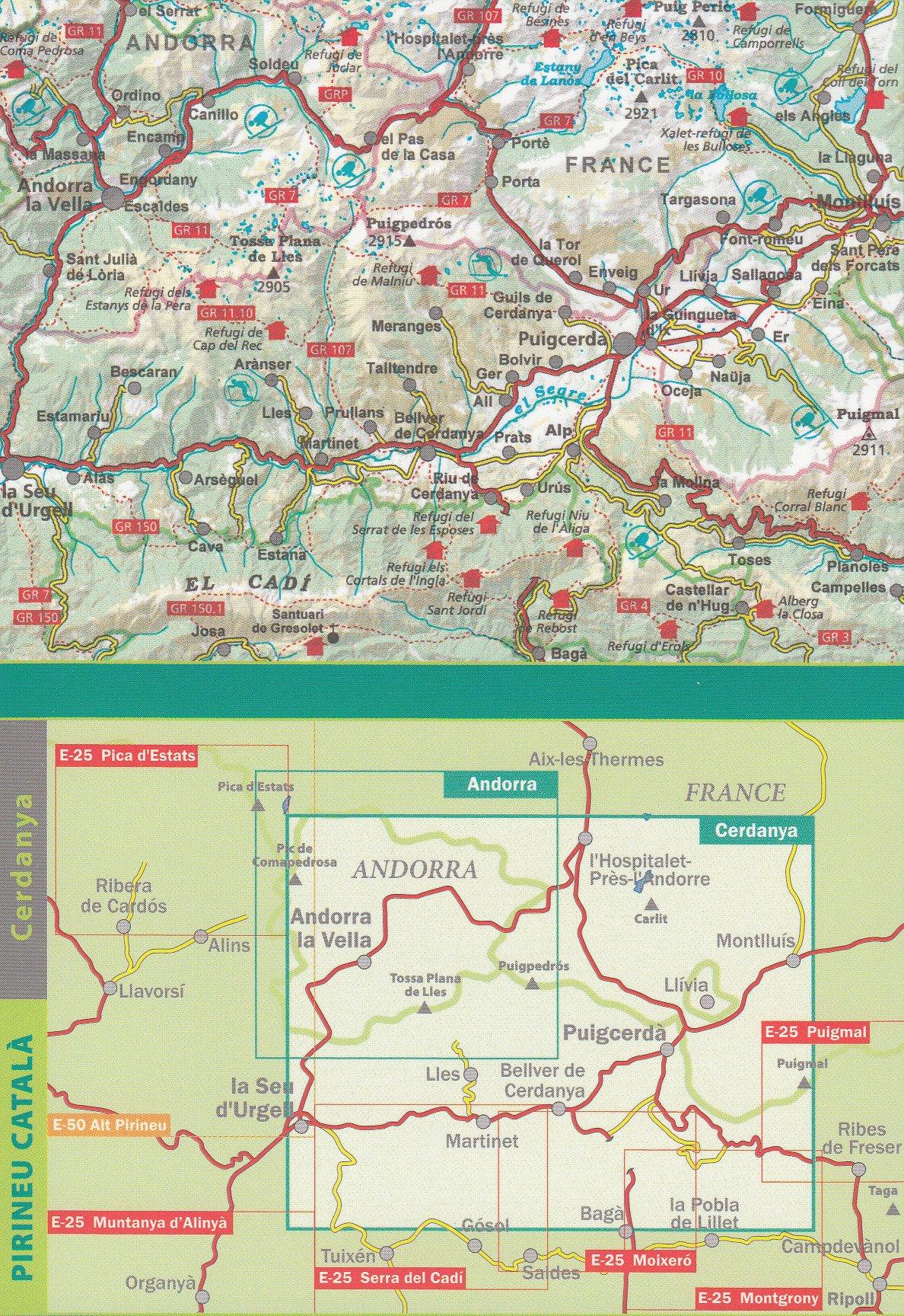 Cerdanya: Alta Cerdanya - Capcir - Andorra, 1:50 000, mapa y una guía de trekking, ALPINA: Amazon.es: AlpinaEditions: Libros