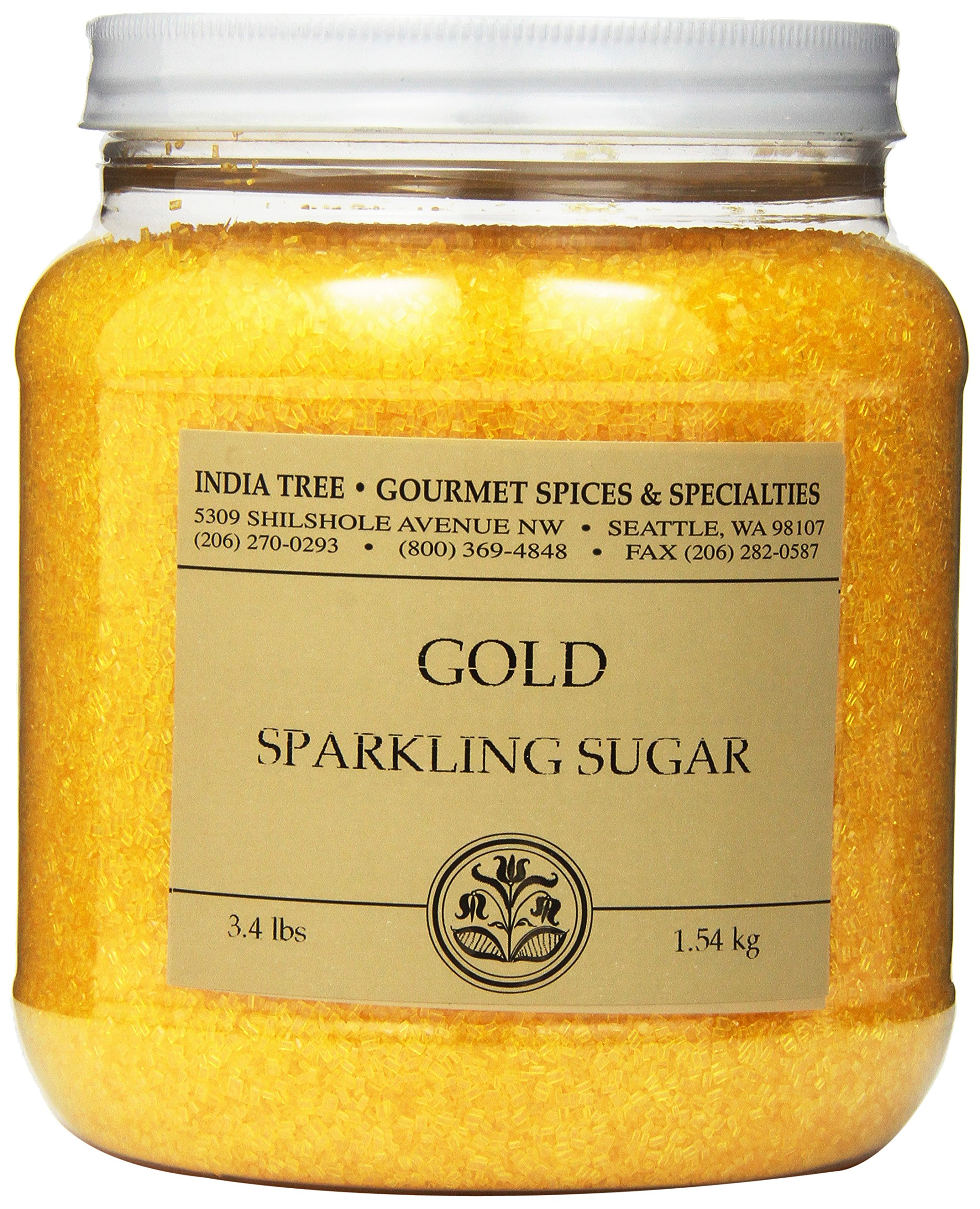India Tree Star Gold Sparkling Sugar, 3.4 lb (Pack of 2) by India Tree