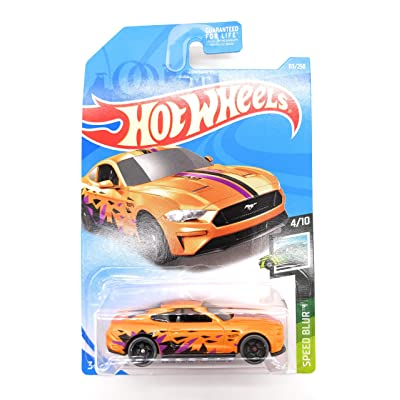Hot Wheels 2020 Speed Blur 2020 Ford Mustang GT 113/250, Orange: Toys & Games
