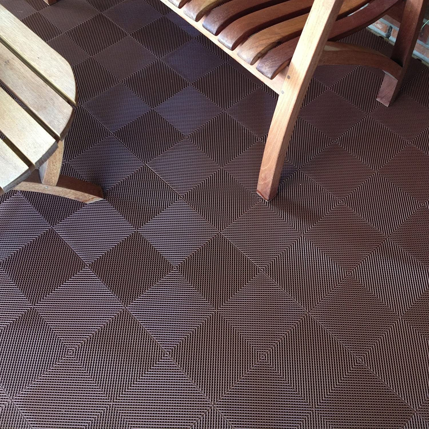 Amazon blocktile b2us4630 deck and patio flooring amazon blocktile b2us4630 deck and patio flooring interlocking tiles perforated pack gray 30 pack home improvement dailygadgetfo Image collections