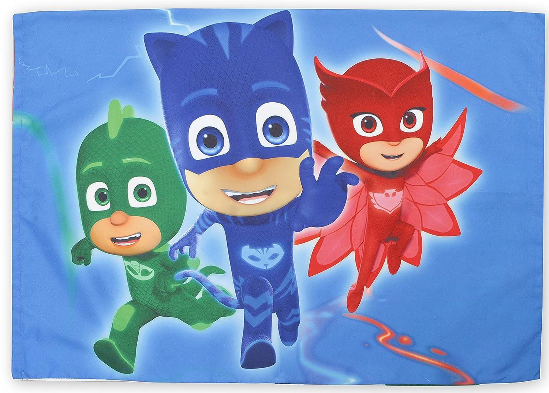 PJ Masks CatBoy Owlete Gekko 4 pc Toddler Bed Set, Blue: Amazon.es: Juguetes y juegos