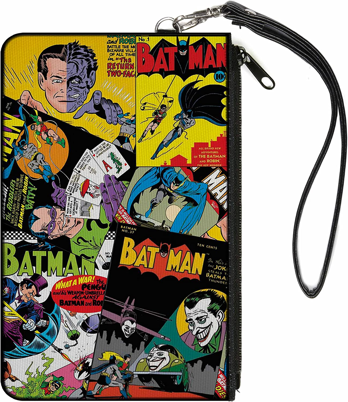 """Buckle-Down Junior's Zip Wallet Batman Small, Multicolor, 6.5"""" x 3.5"""""""