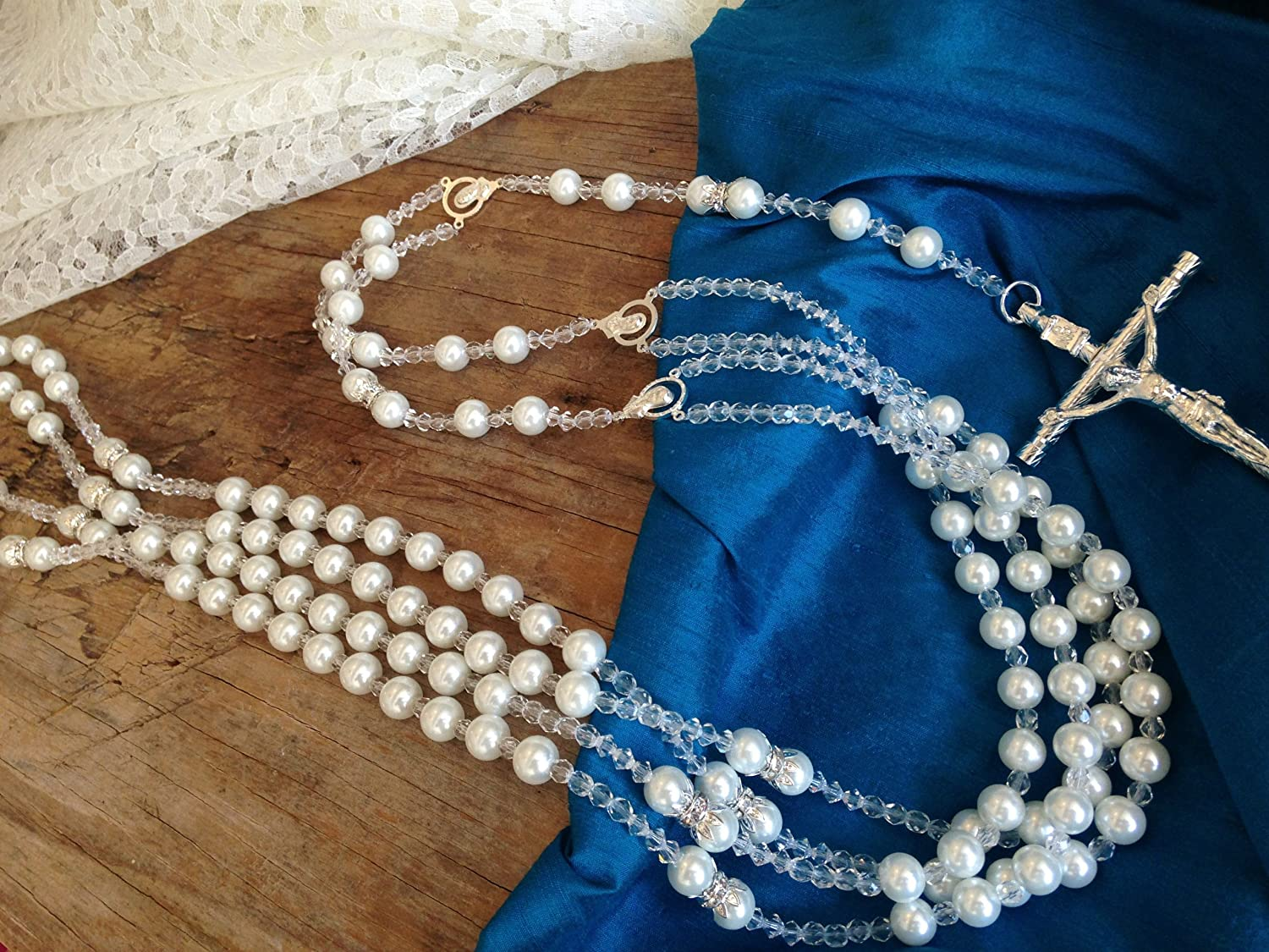 Amazon.com : White Pearls Wedding Lasso/Crystal Pearls Wedding Rosary/Lazo De Boda Perlas Blancas : Wedding Ceremony Accessories : Everything Else
