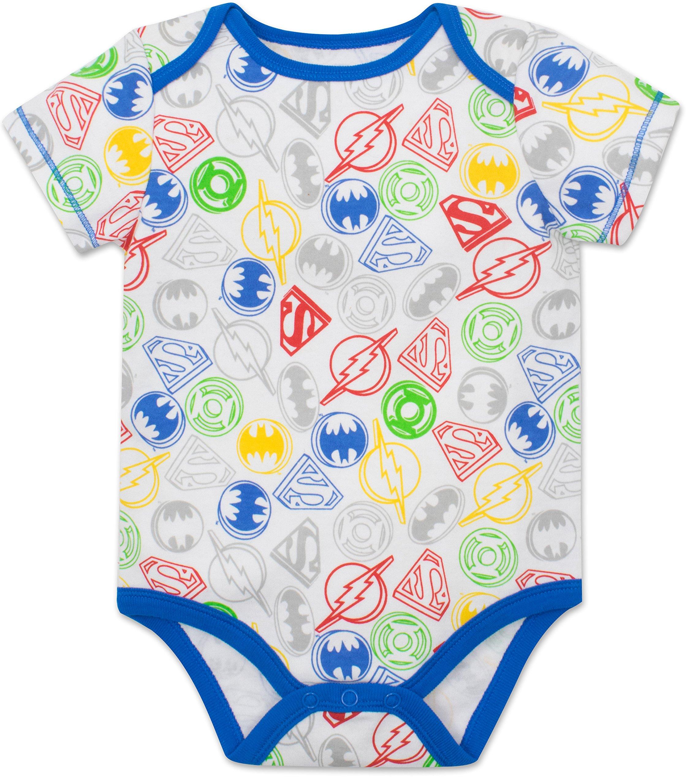 Justice League Baby Boys' 5 Pack Superhero Onesies - Batman, Superman, The Flash and Green Lantern (6-9M) by Warner Bros. (Image #6)