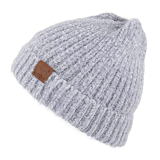 92dd07463e2 Amazon.com: C.C Exclusives Fuzzy Marbled Knit Beanie Hat (Natural ...