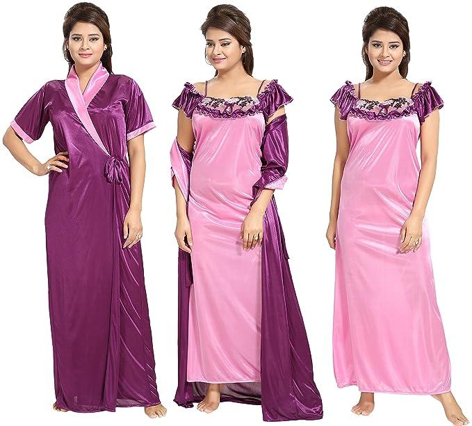 Noty Women s Satin Night Robe(UM10 c25d7375e